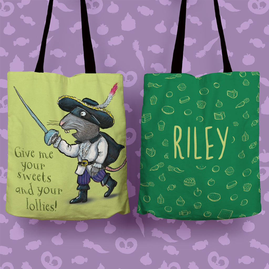 Green Highway Rat Personalised Edge to Edge Tote Bag