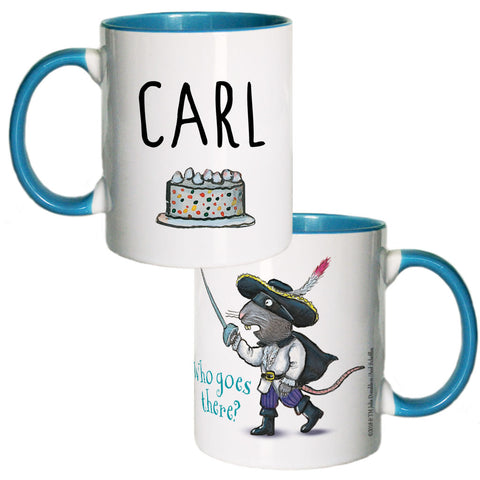 Blue Highway Rat Personalised Coloured Insert Mug