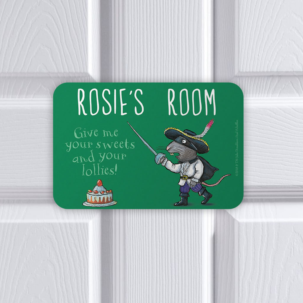 Personalised Green Highway Rat Personalised Door Plaque (Lifestyle)