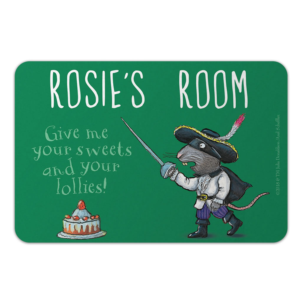 Personalised Green Highway Rat Personalised Door Plaque