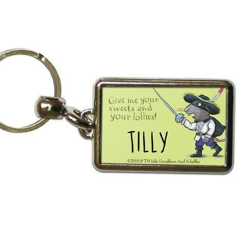 Green Highway Rat Personalised Metal Keyring