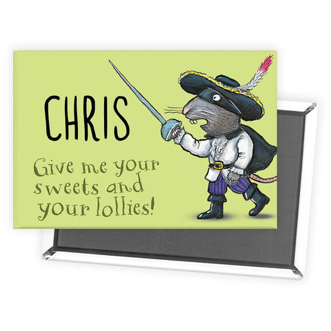 Green Highway Rat Personalised Magnet