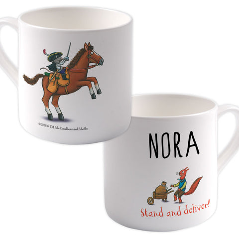 """Stand and deliver"" Highway Rat Personalised Large Bone China Mug"