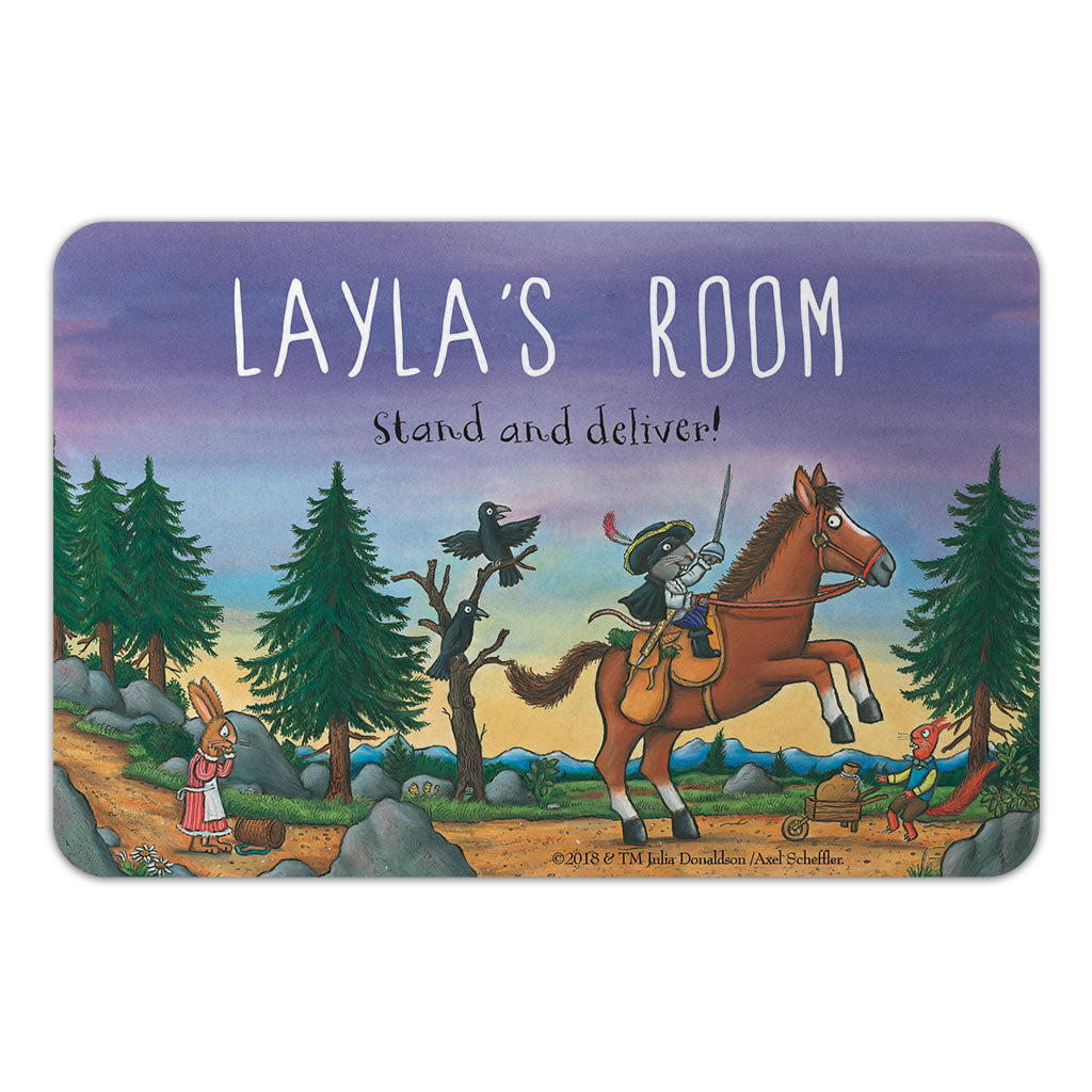 Personalised Purple Highway Rat Personalised Door Plaque