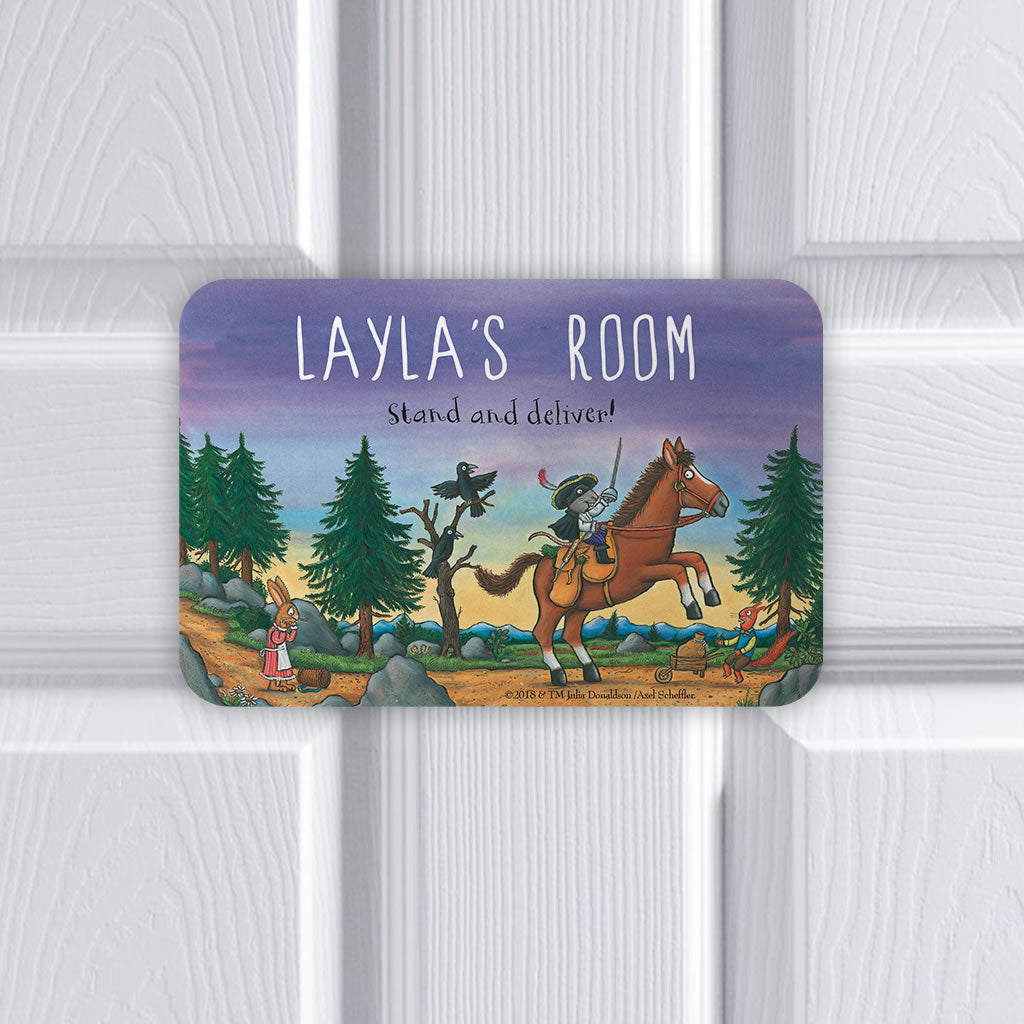 Personalised Purple Highway Rat Personalised Door Plaque (Lifestyle)