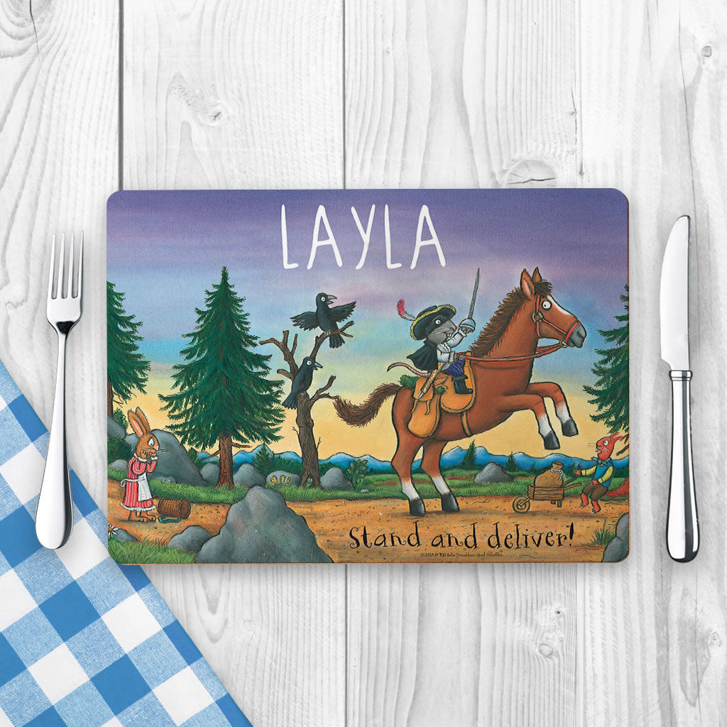"""Stand and deliver!"" Highway Rat Personalised Placemat (Lifestyle)"