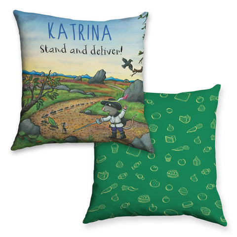 Green Highway Rat Personalised Cushion