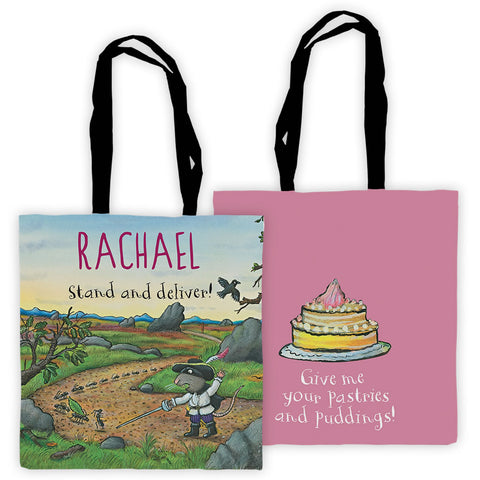 Pink Highway Rat Personalised Edge to Edge Tote Bag
