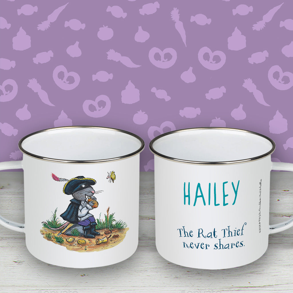 """Rat thief never shares"" Highway Rat Personalised Enamel Mug"