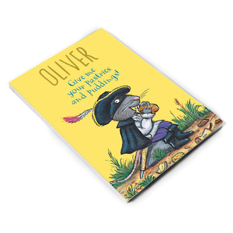 Yellow Highway Rat Personalised A5 Notepad