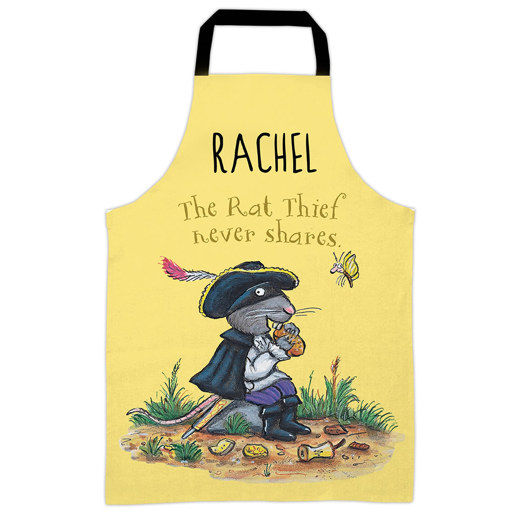 Yellow Highway Rat Personalised Apron
