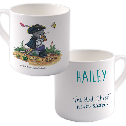 """Rat thief never shares"" Highway Rat Personalised Large Bone China Mug"