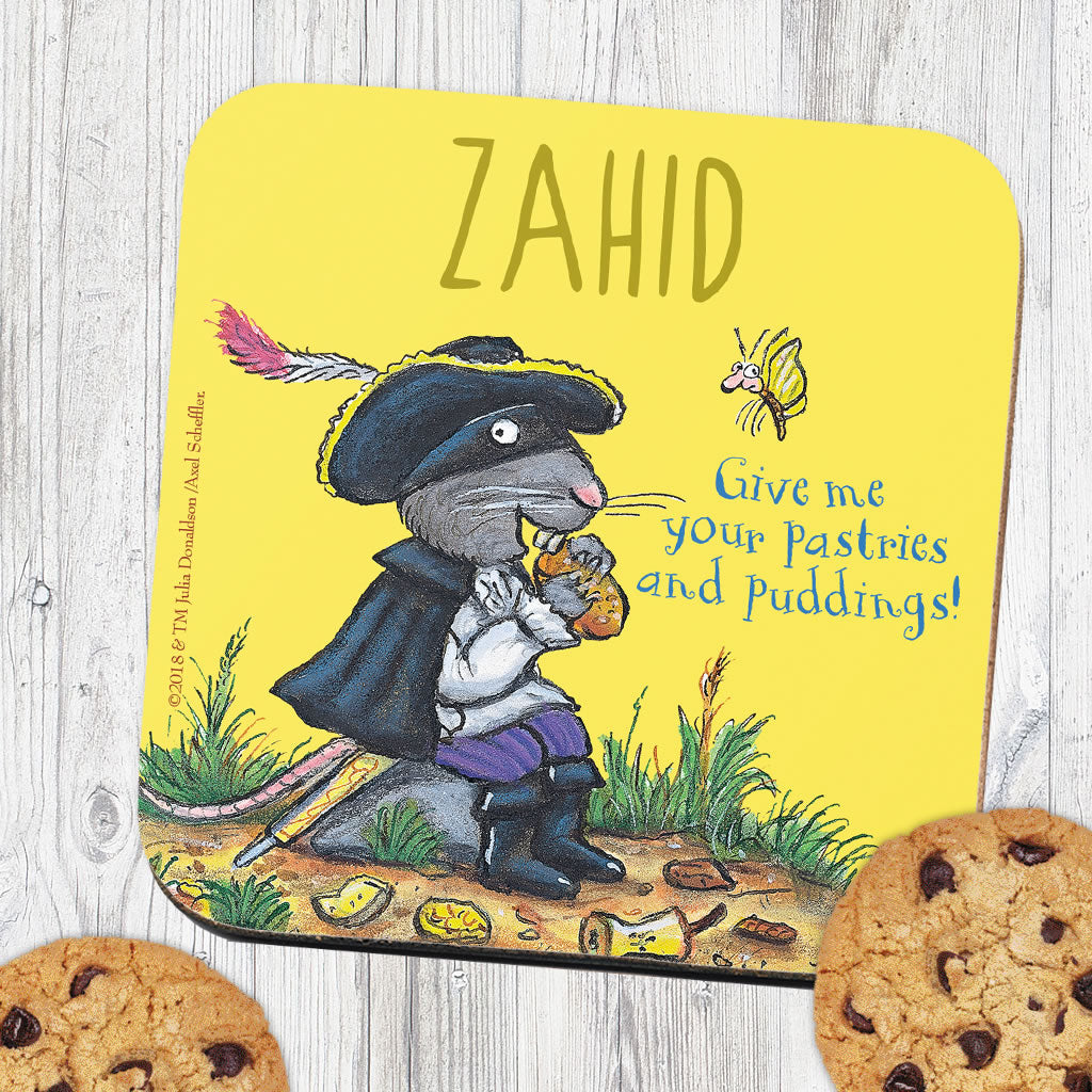 Yellow Highway Rat Personalised Coaster (Lifestyle)