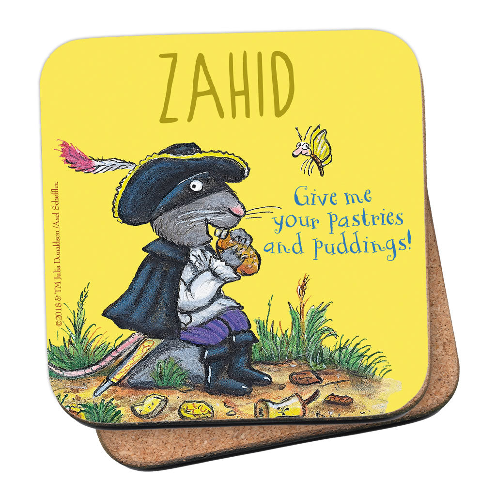 Yellow Highway Rat Personalised Coaster