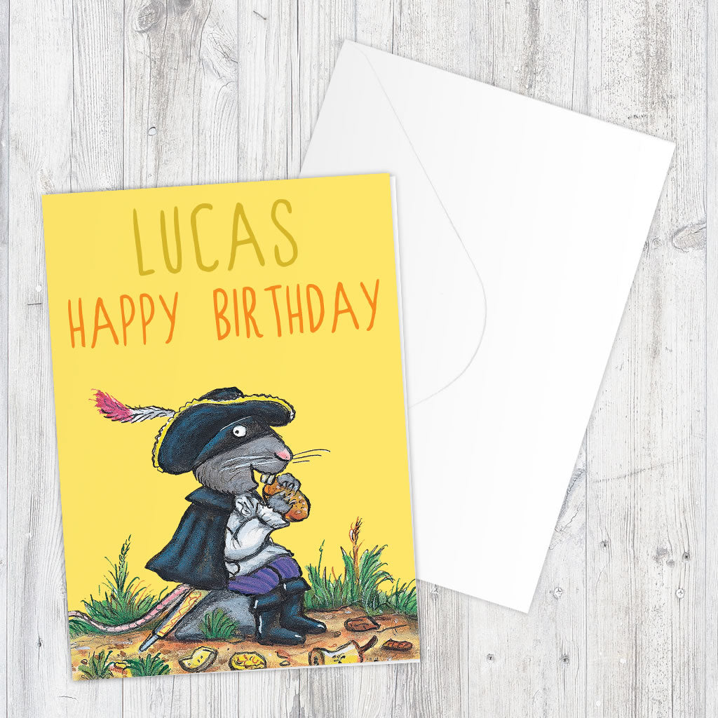 Yellow Highway Rat Personalised Greeting Card (Lifestyle)