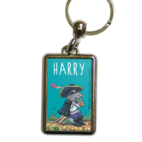 Greedy Highway Rat Personalised Metal Keyring