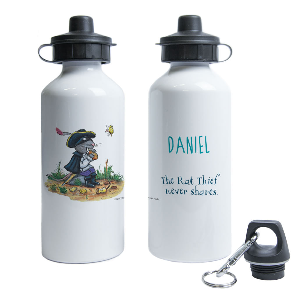 """Rat thief never shares"" Highway Rat Personalised Water Bottle"