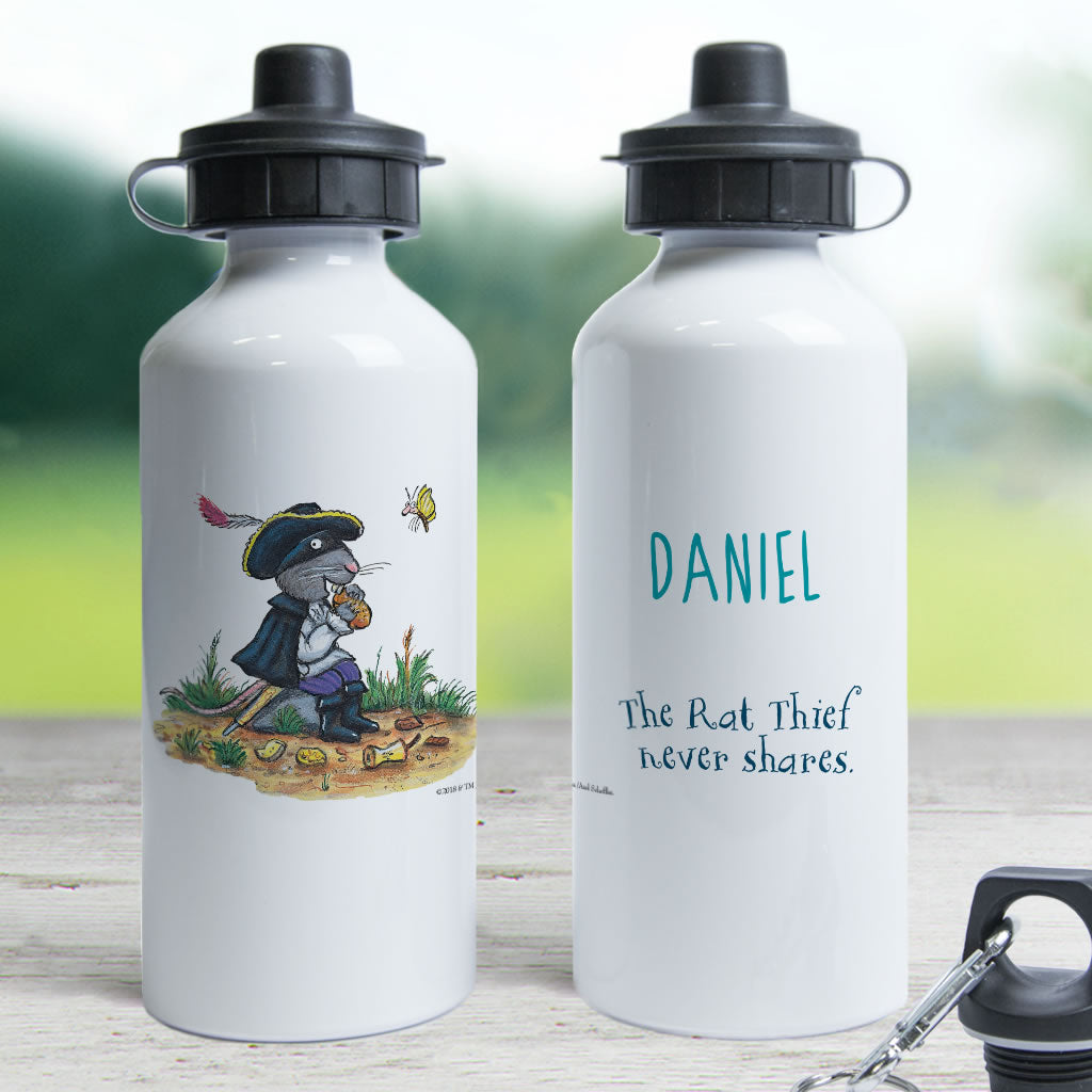 """Rat thief never shares"" Highway Rat Personalised Water Bottle (Lifestyle)"