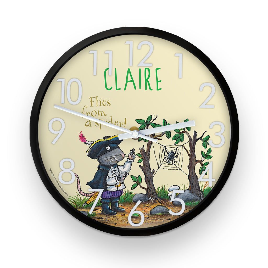 """Flies from a Spider"" Highway Rat  Personalised Clock"