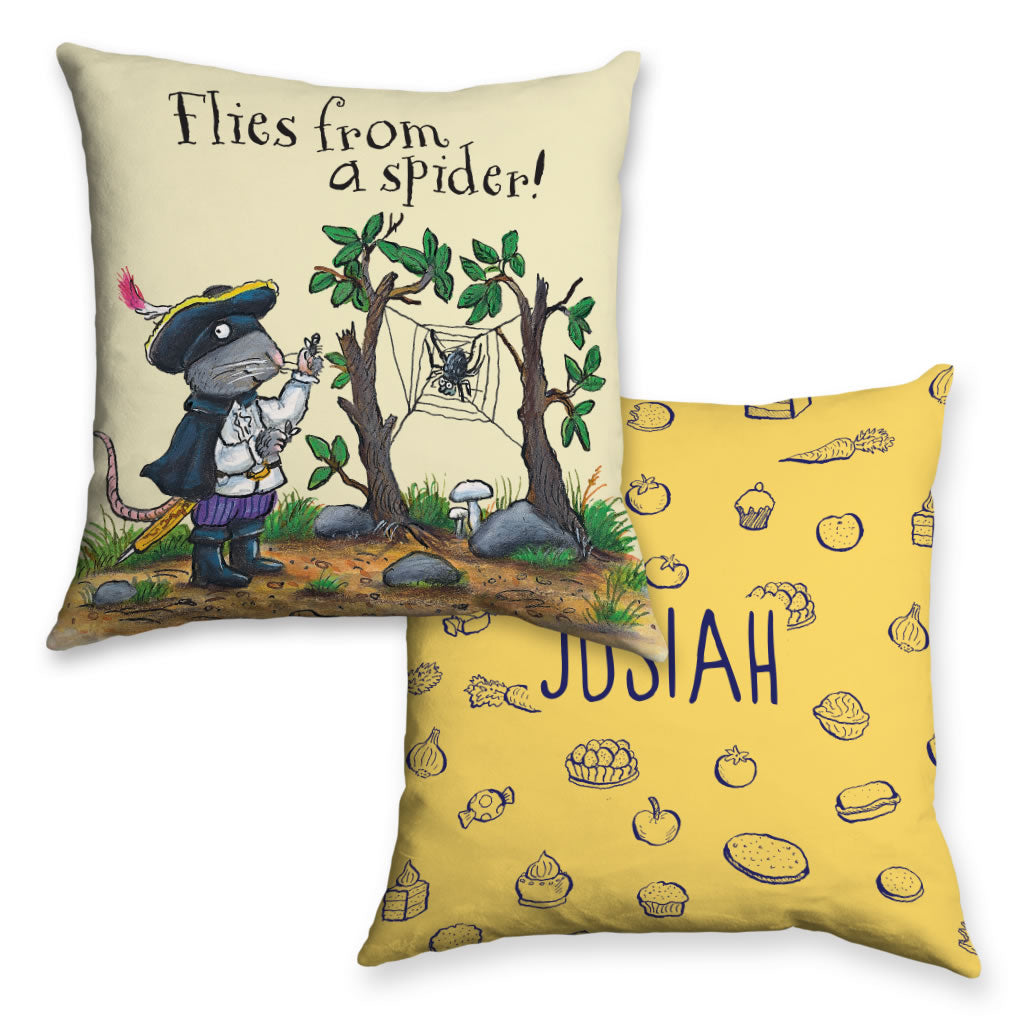 Yellow Highway Rat Personalised Cushion