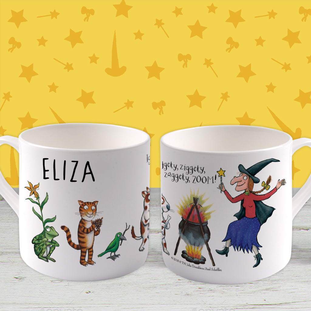 Room on the Broom Personalised Large Bone China Mug