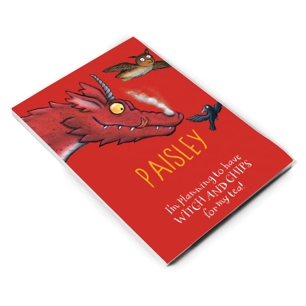 Red Dragon Room on the Broom Personalised A5 Notepad