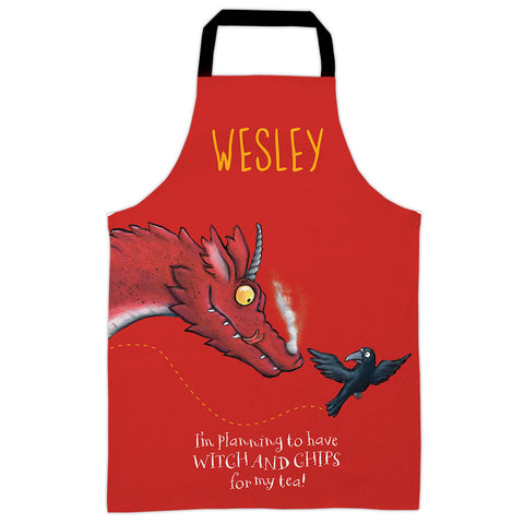 Red Room on the Broom Personalised Apron