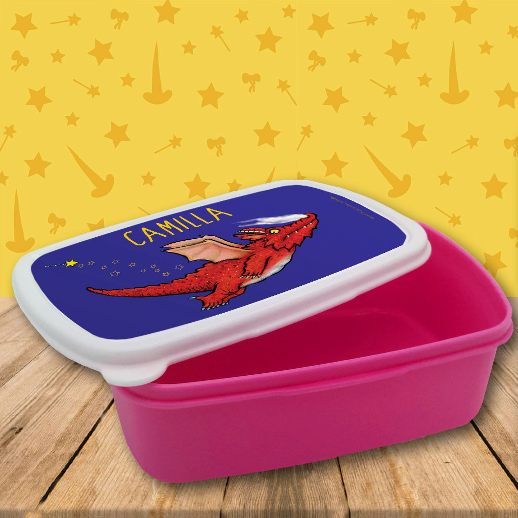 Red Dragon Room on the Broom Personalised Lunchbox