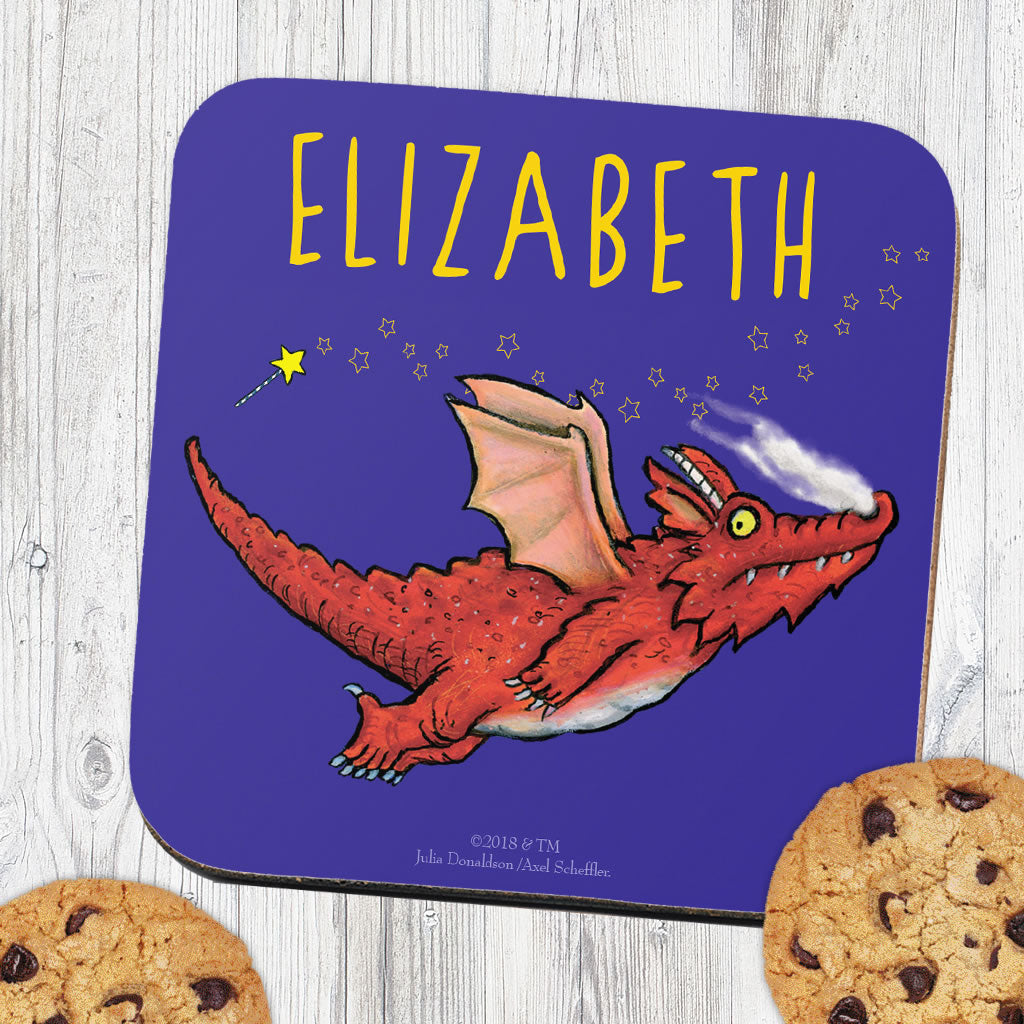 Room on the Broom Flying Dragon Personalised Coaster (Lifestyle)
