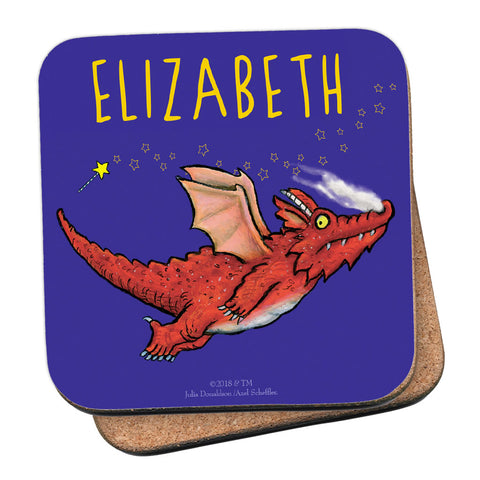 Room on the Broom Flying Dragon Personalised Coaster