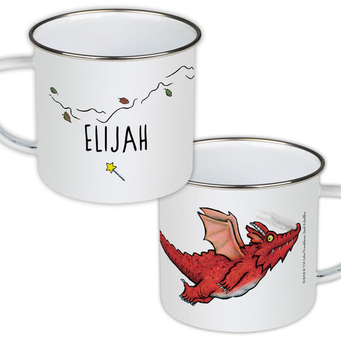 Dragon Room on the Broom Personalised Enamel Mug