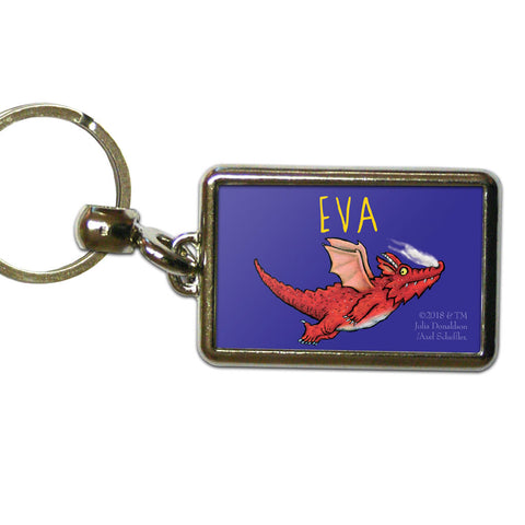 Dragon Room on the Broom Personalised Metal Keyring