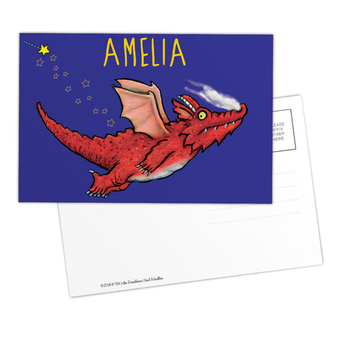 Purple Dragon Room on the Broom Personalised Postcard