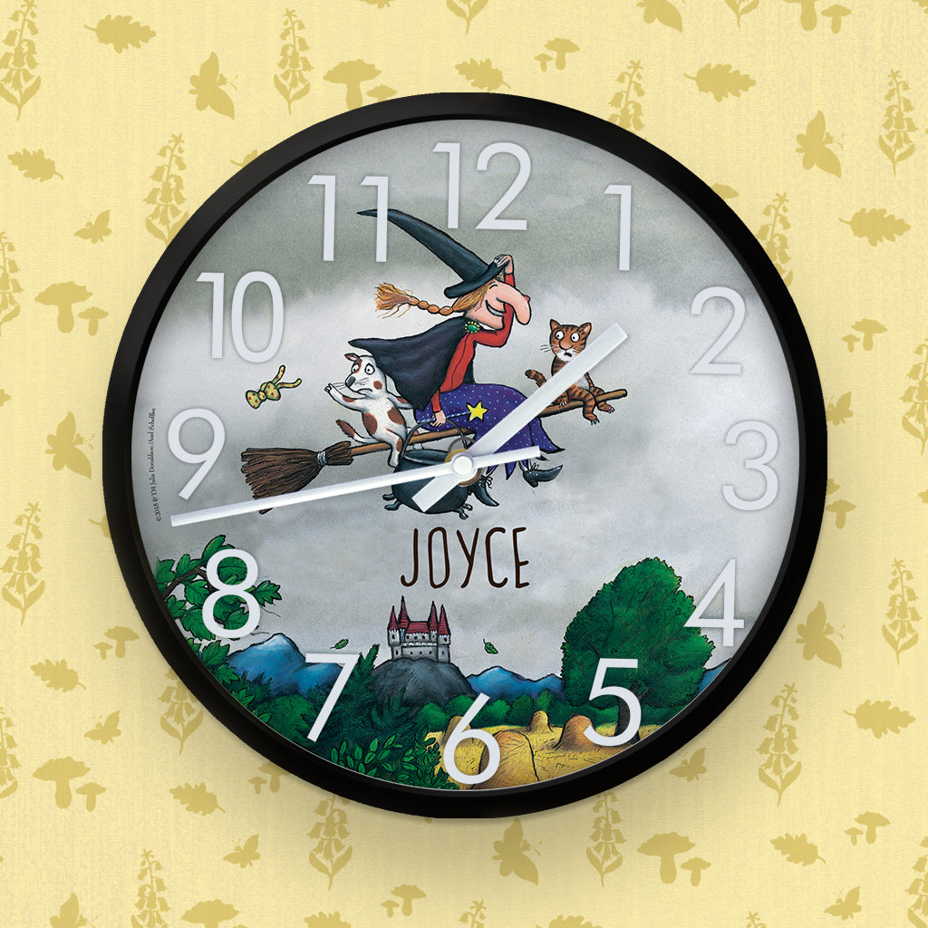 Storm Room on the Broom Personalised Clock