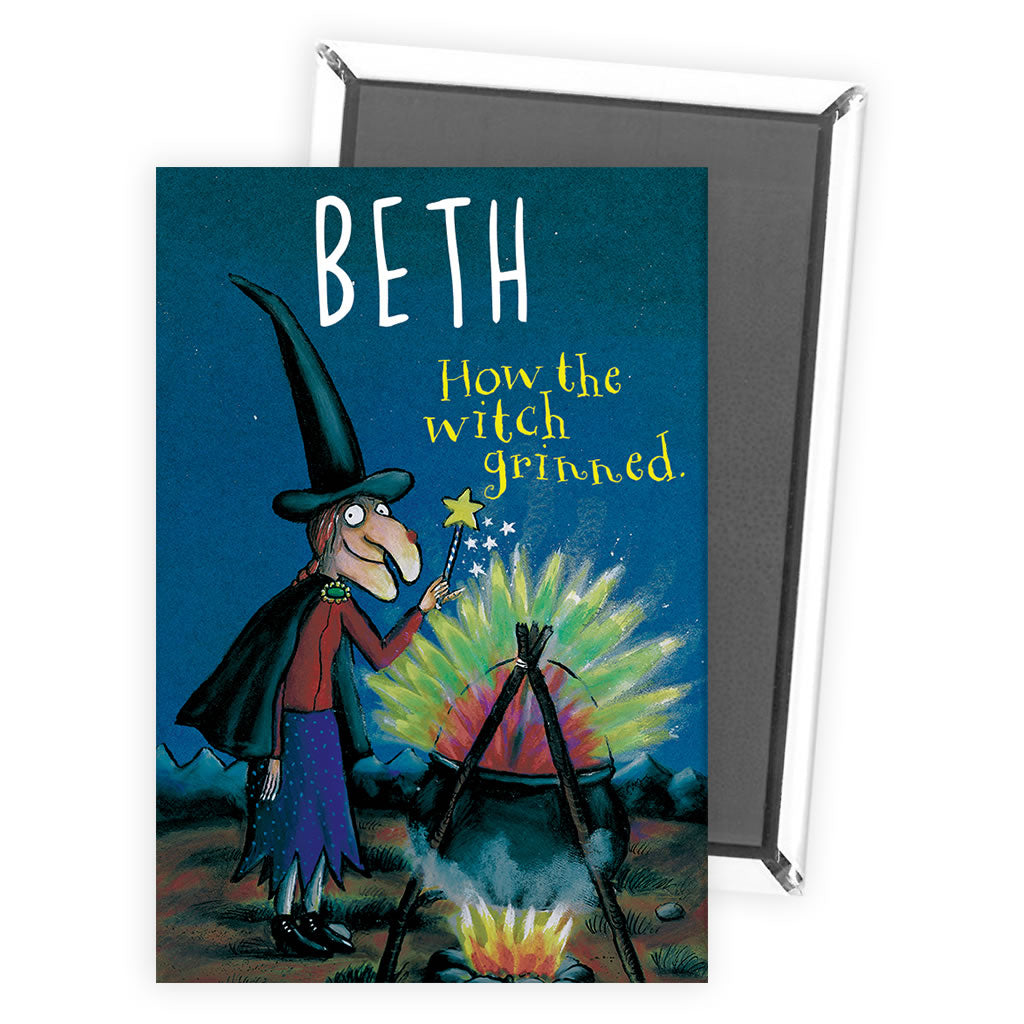 Witch Room on the Broom Personalised Magnet