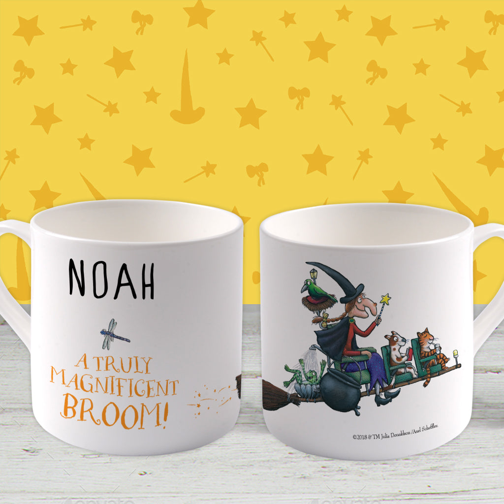 Magnificent Broom Personalised Large Bone China Mug