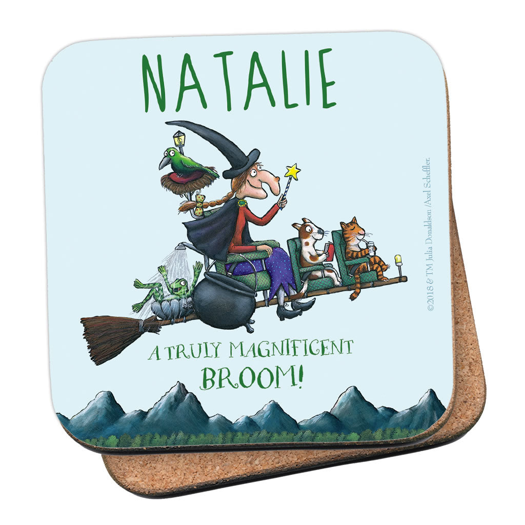 Magnificent Broom Personalised Coaster