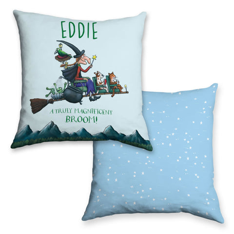 Magnificent Room on the Broom Personalised Cushion