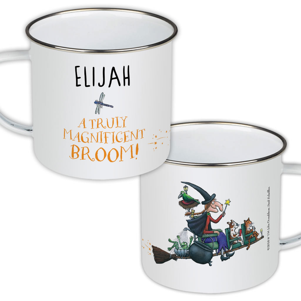 Magnificent Broom Personalised Enamel Mug