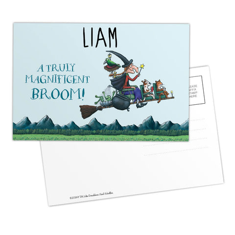 Magnificent Broom Personalised Postcard