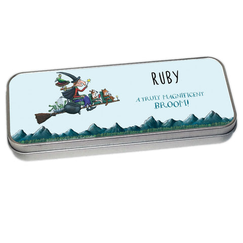 Magnificent Broom Personalised Pencil Tin