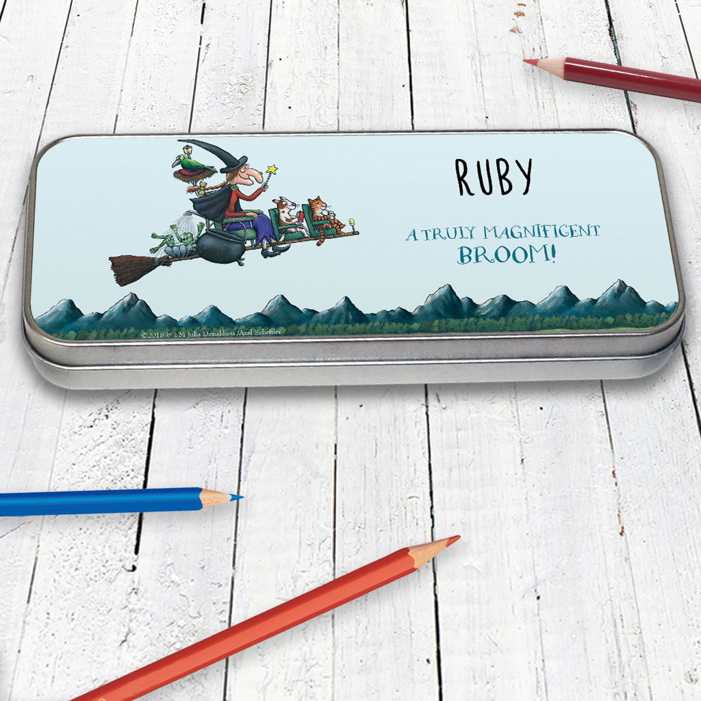 Magnificent Broom Personalised Pencil Tin (Lifestyle)