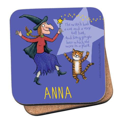 Purple Room on the Broom Personalised Coaster
