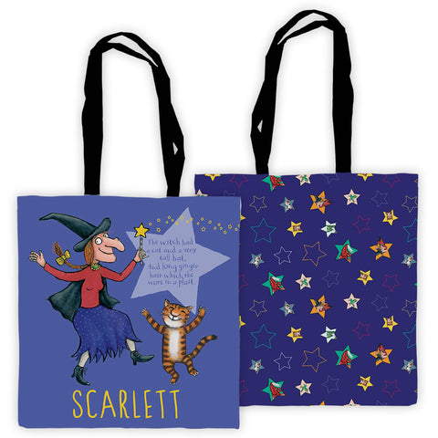 Purple Room on the Broom Personalised Edge to Edge Tote Bag