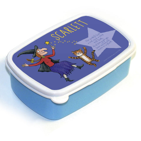 Witch and Cat Room on the Broom Personalised Lunch Box