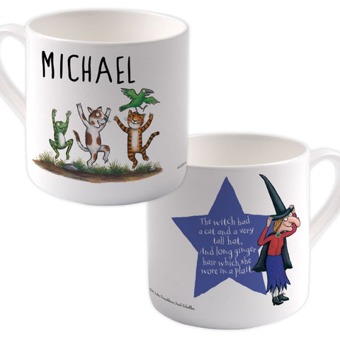 Room on the Broom Friends Personalised Large Bone China Mug