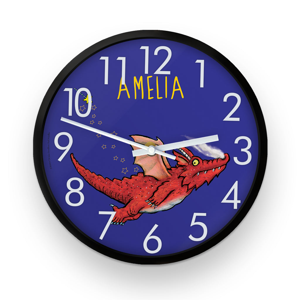 Flying Dragon Room on the Broom Personalised Clock