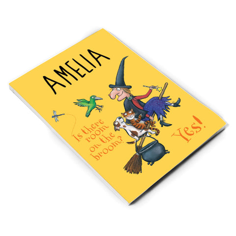 Yellow Room on the Broom Personalised A5 Notepad