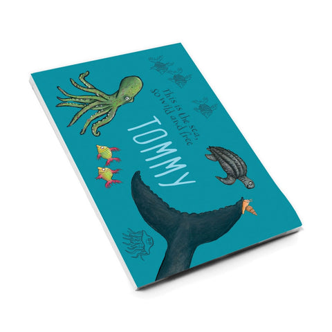 This is the sea so wild and free Personalised A5 Notepad