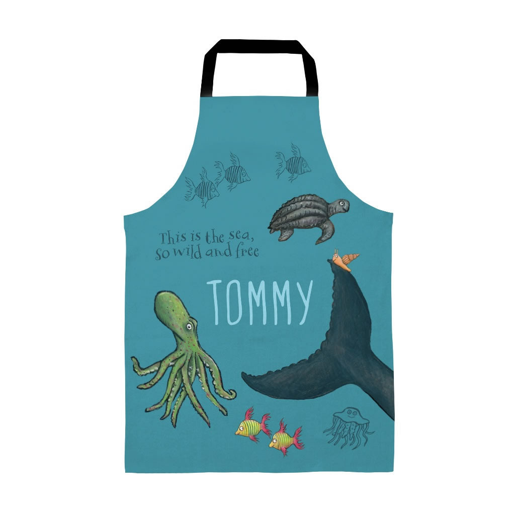 This is the sea so wild and free Personalised Apron